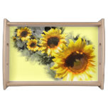 Row of Sunflowers Serving Tray