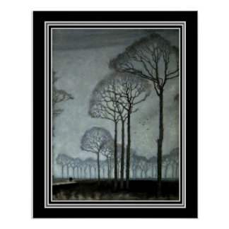 Row of Trees by Jan Mankes ca 1915-16x20 Poster