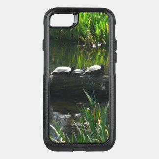 Row of Turtles Green Nature Photo OtterBox Commuter iPhone 8/7 Case