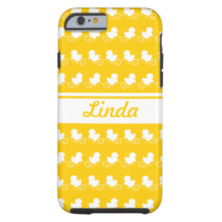 row of white ducks yellow iPhone 6 Tough iPhone 6 Case