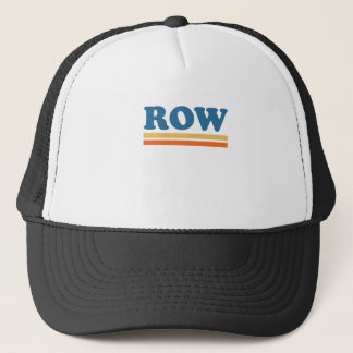 row trucker hat