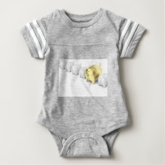 Row with piggy banks baby bodysuit