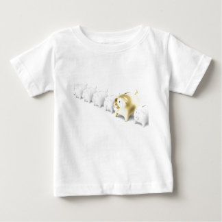 Row with piggy banks baby T-Shirt