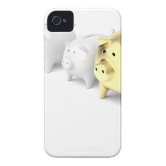 Row with piggy banks iPhone 4 case