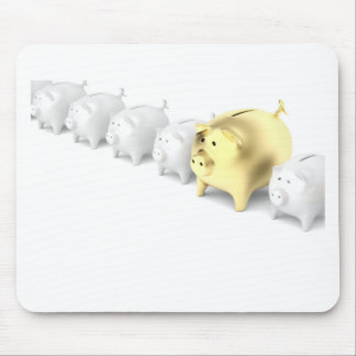 Row with piggy banks mouse pad