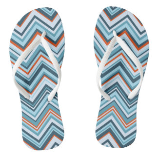 Rowanberry Winter Chevron Flip Flops