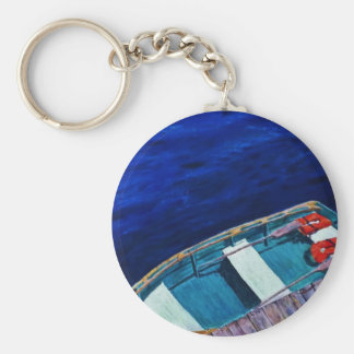 Rowboat at The Dock Keychains