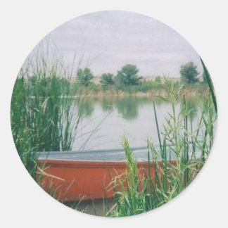 Rowboat Classic Round Sticker