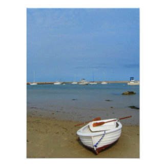Rowboat on the Shore of Block Island Poster