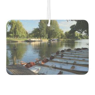 Rowboats Boats on the River Stratford Upon Avon UK Car Air Freshener