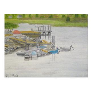 RowBoatsMenemshaPond Postcard