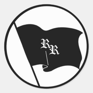 Rowdy Flag Round Sticker