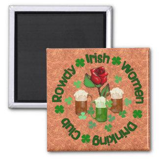 Rowdy Irish Women Square Magnet