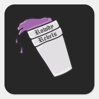 Rowdy Lean Cup Square Sticker
