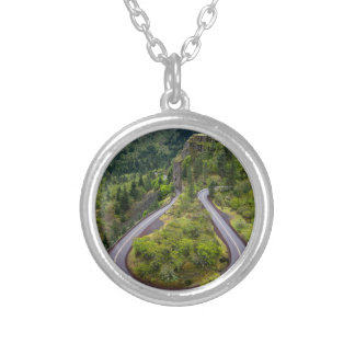 Rowena Crest Loops - Oregon Silver Plated Necklace