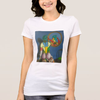 Rower of short sleeve lady with design T-Shirt