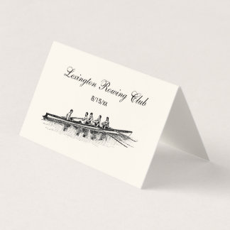 Rowers Crew Team Place Card Escort Card Ivory