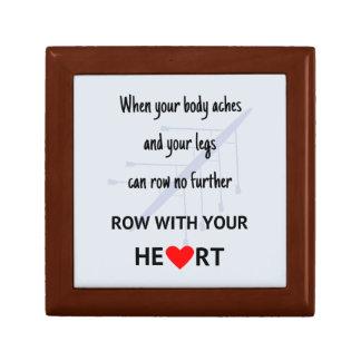 Rowers motivational quote keepsake box