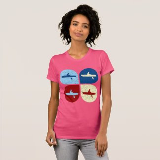 Rowers Women Shirt - Vintage Colorful Rowing Shirt