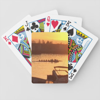 Rowing at Sunset Bicycle Playing Cards