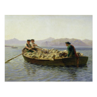 Rowing-Boat, 1863 Postcard