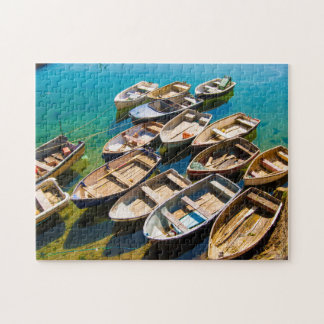 Rowing Boats at Mevagissey Jigsaw Puzzle