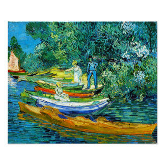 Rowing Boats (van Gogh) Poster