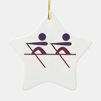 Rowing Ceramic Ornament