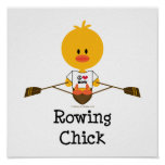 Rowing Chick Poster