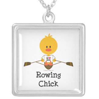 Rowing Chick Sterling Silver Necklace