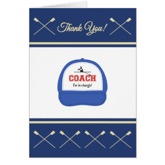 Rowing coach sport thank you card