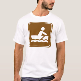 Rowing Highway Sign T-Shirt