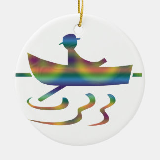 Rowing in a Small Boat Ornament