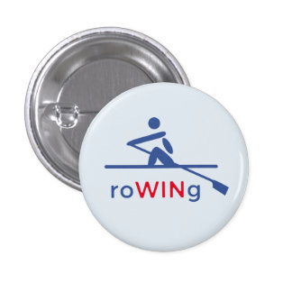 RoWINg motivational blue 1 Inch Round Button
