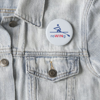RoWINg motivational blue 2 Inch Round Button
