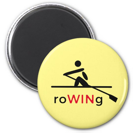 RoWINg motivational yellow 2 Inch Round Magnet