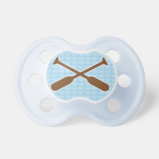 Rowing Oars sports New Baby Boy Shower Gift Pacifier