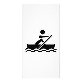 Rowing rower photo card