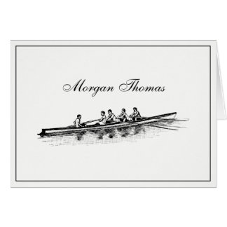 Rowing Rowers Crew Team Water Sports Card