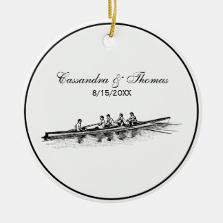 Rowing Rowers Crew Team Water Sports Ceramic Ornament