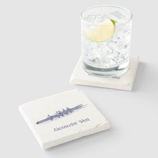 Rowing Rowers Crew Team Water Sports Stone Coaster