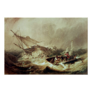 Rowing to rescue shipwrecked poster