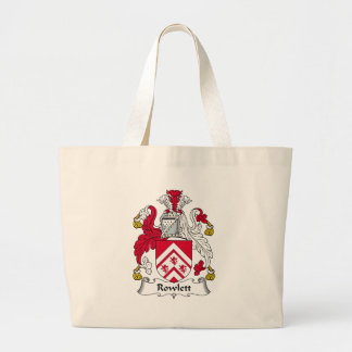 Rowlett Family Crest Large Tote Bag