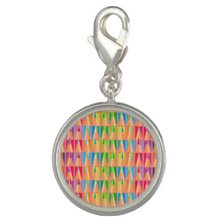 Rows of Colored Pencils Charms