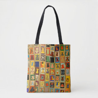 rows of cute little girl's dresses tote bag