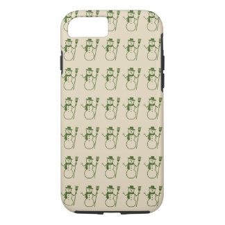 Rows of Cute Snowmen Vintage Holiday Season Case-Mate iPhone Case