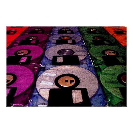 Rows of Floppies Poster