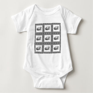 rows of frogs baby bodysuit