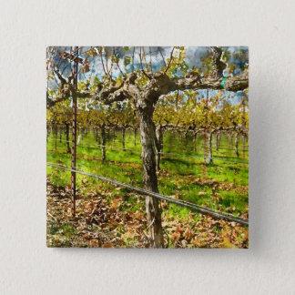 Rows of Grapevines in Napa Valley California 2 Inch Square Button
