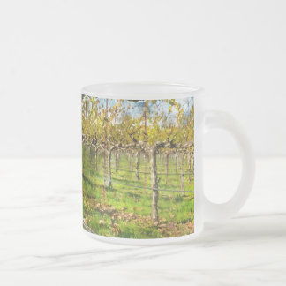 Rows of Grapevines in Napa Valley California Frosted Glass Coffee Mug